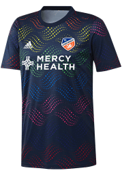 FC Cincinnati Mens Adidas Replica Soccer 2019 Pride Prematch Jersey - Navy Blue
