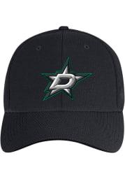 Adidas Dallas Stars Mens Black Primary Structured Flex Hat