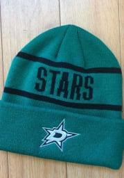 Adidas Dallas Stars Green Primary Cuff Mens Knit Hat