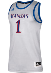 Adidas Kansas Jayhawks Grey Replica Jersey