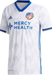 FC Cincinnati Mens Adidas Authentic Soccer 2020 Secondary Jersey - White