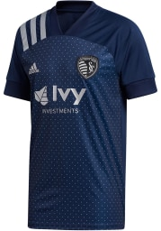 Sporting Kansas City Mens Adidas Replica Soccer 2020 Secondary Jersey - Navy Blue