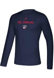 Adidas FC Dallas Navy Blue Wordmark Goals Long Sleeve T-Shirt