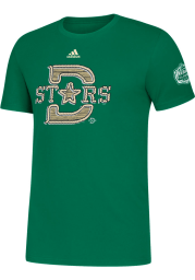 Adidas Dallas Stars Kelly Green 2020 Winter Classic Structured Short Sleeve T Shirt