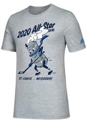 Adidas St Louis Blues Grey 2020 All Star Game Short Sleeve T Shirt