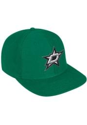 Adidas Dallas Stars Green Flat Brim Mens Snapback Hat