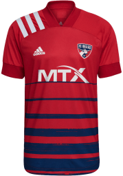 FC Dallas Mens Adidas Authentic Soccer 2021 Primary Authentic Jersey - Red