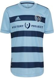 Sporting Kansas City Mens Adidas Authentic Soccer 2021 Primary Jersey - Light Blue