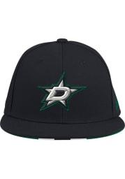 Adidas Dallas Stars Mens Black Baseball Fitted Hat