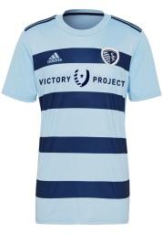 Sporting Kansas City Mens Adidas Replica Soccer 2021 Primary Jersey - Light Blue