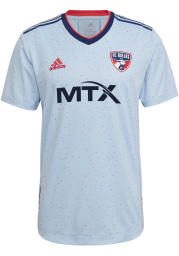 FC Dallas Mens Adidas Authentic Soccer 2021 Secondary Jersey - White