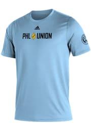 Adidas Philadelphia Union Blue Kickoff Short Sleeve T Shirt