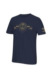 Adidas Philadelphia Union Navy Blue Supporter Short Sleeve T Shirt