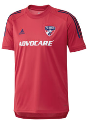 Adidas FC Dallas Red Travel Short Sleeve T Shirt