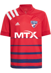Adidas FC Dallas Youth Red Primary Replica Soccer Jersey