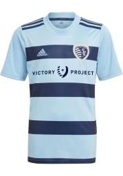 Adidas Sporting Kansas City Youth Light Blue Primary Replica Soccer Jersey