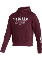 Adidas Texas A&M Aggies Mens Maroon Fashion Long Sleeve Hoodie