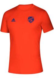 Adidas FC Cincinnati Orange Creator Short Sleeve T Shirt