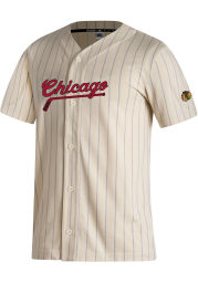 Chicago Blackhawks Mens Adidas Replica Baseball Jersey Jersey - White