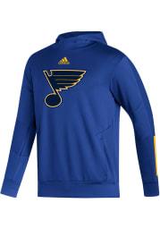 Adidas St Louis Blues Mens Blue Training Pullover Hood