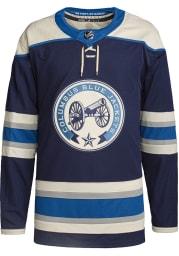Adidas Columbus Blue Jackets Mens Navy Blue Alt Authentic Hockey Jersey