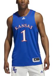 Adidas Kansas Jayhawks Blue Swingman Jersey