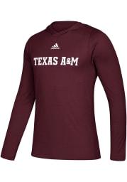 Adidas Texas A&M Aggies Mens Maroon Free Sport Tech Hood