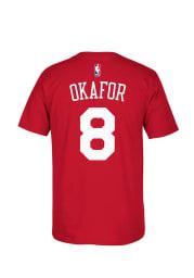 Jahlil Okafor Philadelphia 76ers Red Short Sleeve Player T Shirt