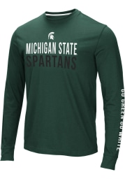 Colosseum Michigan State Spartans Green Lutz Long Sleeve T Shirt