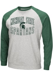 Colosseum Michigan State Spartans Mens Grey Cross Country Long Sleeve Crew Sweatshirt