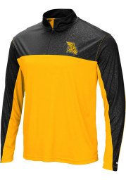 Colosseum Missouri Western Griffons Mens Gold Luge Long Sleeve 1/4 Zip Pullover