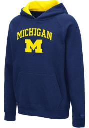 Colosseum Michigan Wolverines Youth Navy Blue Pesto Long Sleeve Hoodie