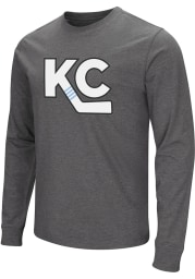 Colosseum Kansas City Mavericks Grey KC Logo Long Sleeve Fashion T Shirt