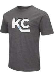 Colosseum Kansas City Mavericks Grey KC Logo Short Sleeve T Shirt