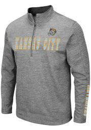 Colosseum Kansas City Mavericks Mens Grey Bart Long Sleeve 1/4 Zip Pullover