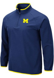 Colosseum Michigan Wolverines Mens Navy Blue Chalmers Long Sleeve 1/4 Zip Pullover
