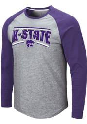 Colosseum K-State Wildcats Grey Kang Long Sleeve T Shirt