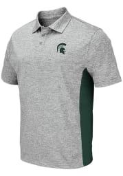 Colosseum Michigan State Spartans Mens Grey Alaska Short Sleeve Polo