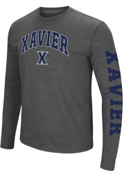 Colosseum Xavier Musketeers Grey Jackson Long Sleeve T Shirt