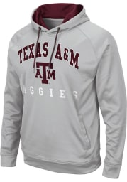Colosseum Texas A&M Aggies Mens Grey Coach Hood