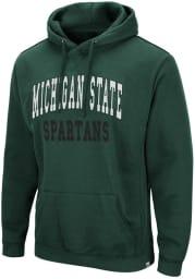 Colosseum Michigan State Spartans Mens Green Rebel Long Sleeve Hoodie