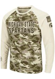 Colosseum Michigan State Spartans Grey Operation Hat Trick Camo Raglan Long Sleeve T Shirt