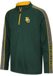 Colosseum Baylor Bears Youth Green Clamu Long Sleeve Quarter Zip Shirt