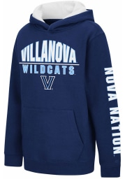 Colosseum Villanova Wildcats Youth Navy Blue Karate Long Sleeve Hoodie