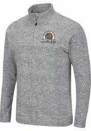 Colosseum Kansas City Mavericks Mens Grey Platinum Rule Long Sleeve 1/4 Zip Pullover