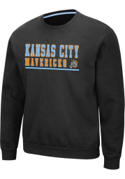 Colosseum Kansas City Mavericks Mens Grey Rally Long Sleeve Crew Sweatshirt