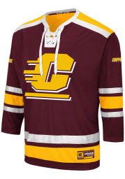 Colosseum Central Michigan Chippewas Mens Maroon Brobibs Hockey Jersey