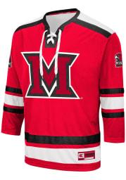 Colosseum Miami RedHawks Mens Red Brobibs Hockey Jersey