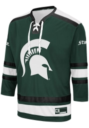 Colosseum Michigan State Spartans Mens Green Brobibs Hockey Jersey