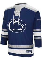 Colosseum Penn State Nittany Lions Mens Navy Blue Brobibs Hockey Jersey